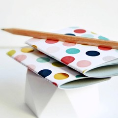 Mid 3x4in {2} Blank Books Pastel Dot | Pocket Notebooks | Dot Journals  Gift <10