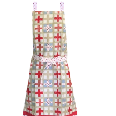 Cross Frill Retro Kitchen Apron FREE Post !