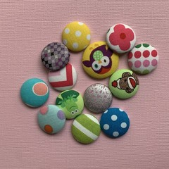 Small Fabric Covered Metal Buttons