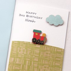 Any Age Birthday card | Personalised Custom Made | Red Train
