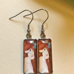 FREE POST: Klimt Ginger Goddess Earrings