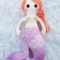 Coral the mermaid, handmade doll