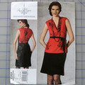 Vogue V1203 top and skirt pattern. Sizes 6 - 12. Uncut pattern