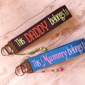 Personalised double-sided key fob 32 mm