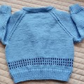 SIZE 3 (+)yrs :Hand knitted cardigan : Boy, washable