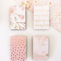 Magnetic Bookmarks - Pink and gold floral