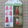 Simplicity 4189 pull on skirt pattern. Size 6 - 14. Uncut pattern