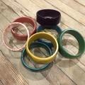 Resin Bangle - Circles Bangle. Various Colours
