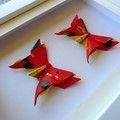 Red Gold Butterflies - custom made gift for special occasion