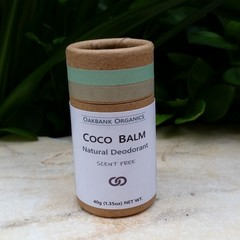 Coco Balm Scent-Free Natural Deodorant I Vegan I Palm Oil Free I Zero Waste