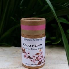 Coco Honey Natural Deodorant I Vegan I Palm Oil Free I Zero Waste