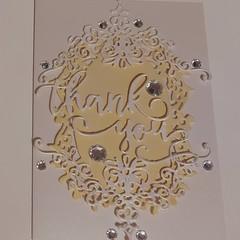 Thankyou handmade card