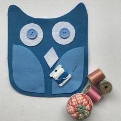 OWL SEWING KIT - Blue Owl