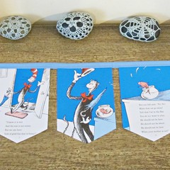 The Cat In The Hat Bunting Dr Seuss Mini Banner Kids Birthday Party Nursery Deco