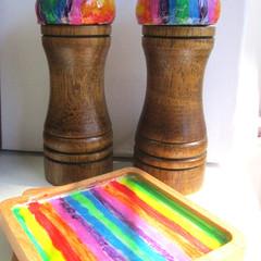 SALT & PEPPER RAINBOW Grinder Set