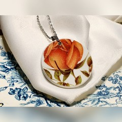 Apricot Rose Wood & Sons Pendant