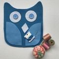 OWL SEWING KIT - Blue Owl