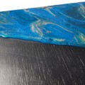 Resin art cheeseboard - black