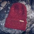 Red knit hat, men beanie, handmade wool accessories, Christmas stocking stuffers