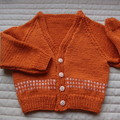 SIZE 2-3 years; knitted cardigan,  washable, winter, warm, unisex