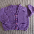 SIZE 4yrs- Hand knitted cardigan