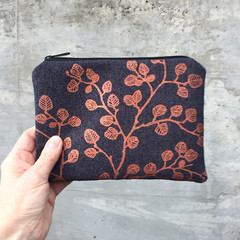 Screen printed nothofagus gunnii pouch