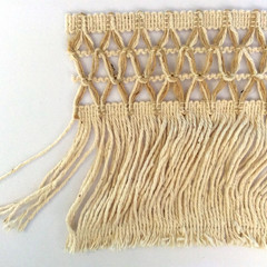 Cotton and Jute Fringed Trim