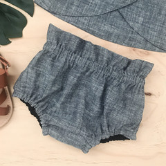 -Mayfair Bloomers -Denim Look - High Waist - Nappy Cover - Retro