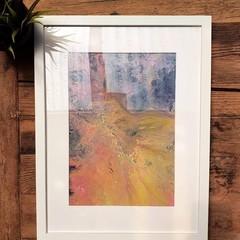 Framed Acrylic Fluid Assorted Artwork
