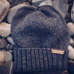 Men beanie Ink, Christmas gift ideas, men wool  knit hat, stocking stuffers, bir