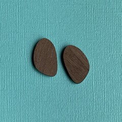 Walnut Wooden Organic Pebble Shape