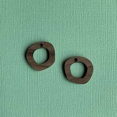 Walnut Wooden Loops Earring / Pendant Findings