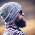 Grey knit wool men beanie, women grey beanie, birthday gift for dad, husband, bo