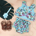 -Mayfair Bloomers -Light Blue Floral - High Waist - Nappy Cover - Retro