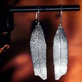 Hand fabricated Eucalyptus Leaf  Earrings