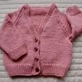 SIZE 1 - Hand knitted cardigan, Washable, unisex, warm, winter