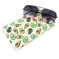 Avocado Sunglasses Case, Reading Glasses Case, Snap Top Pouch