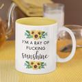 "I""m a Ray of Sunshine Cheeky Ceramic Personalised Coffee Tea Mug - CM040"