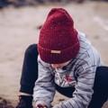 Children beanie, child hat, Red knit beanie, wool knit hat, stocking stuffers fo
