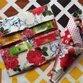 Handy Tea Bag Wallet & Scissor Holder gift set-Skulls & Roses