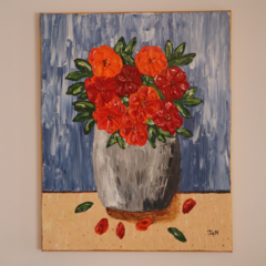 PAINTING - 'Firey Blooms'