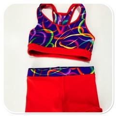 Purple Swirl Girls Gym Set