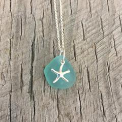 Starfish Shallows Sea Glass Pendant