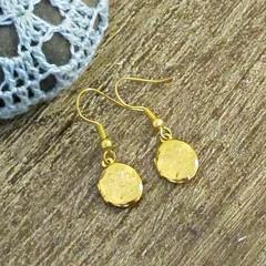 Gold Locket Earrings Mini For Girls Women Drop Earrings Dangle Miniature Floral