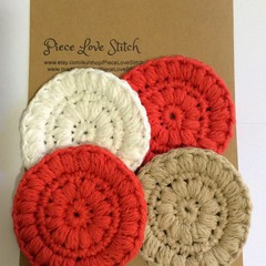 Soft textured Face Scrubbies, Free postage, 4 pack, machine washable, reusable