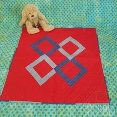 """Woven Diamonds - Baby Quilt - 94cm x 94cm (37"""" x 37"""")"""