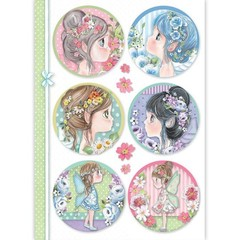 Rice Paper - Decoupage -  1 x A4 Size Sheet - Fairy Faces