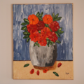 Firey Blooms Acrylic Painting