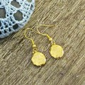 Gold Locket Earrings Mini For Girls Women Drop Earrings Dangle Miniature Floral