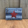 Upcycled denim coin purse - Star